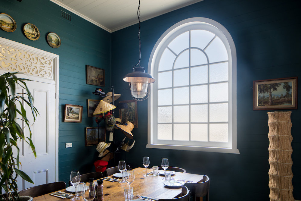 - Our master joiner crafted a heritage style arched window as a feature for the venue's private function room.