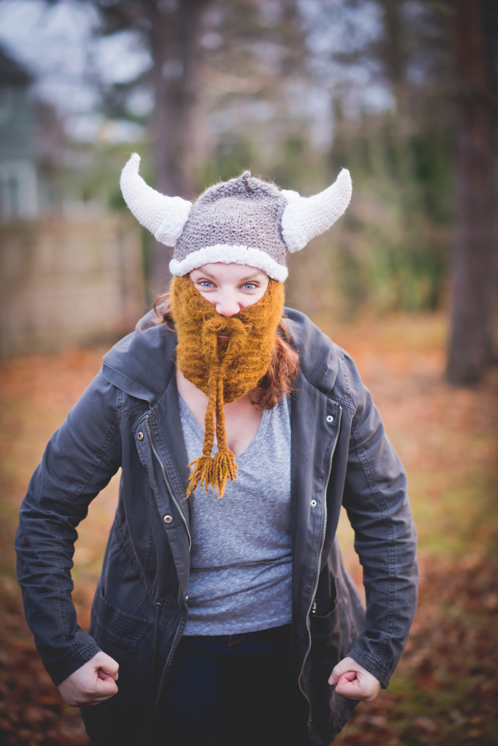 Sometimes at the end of a long day, putting on a warm hat with a beard and yelling in the woods can really soothe the soul.