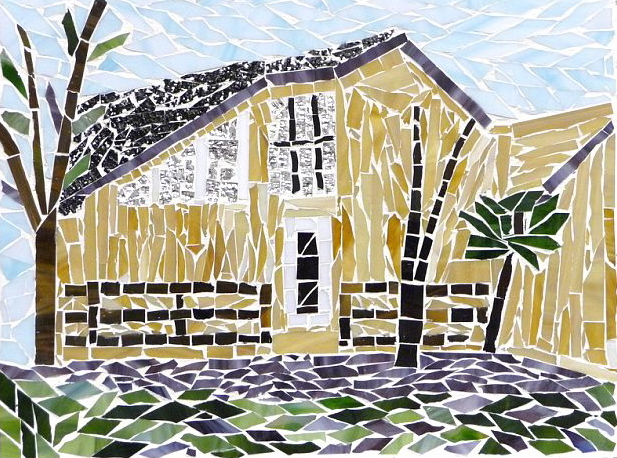 summer house, glass mosaic (2010)