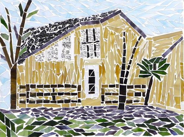 summer house, glass mosaic (2010)