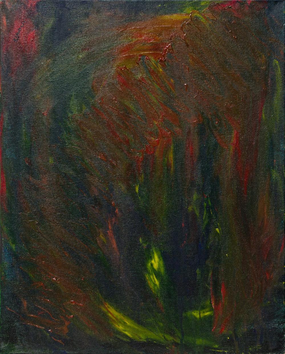 "the womb, acrylic paint, 16"" x 20"" (2013)"