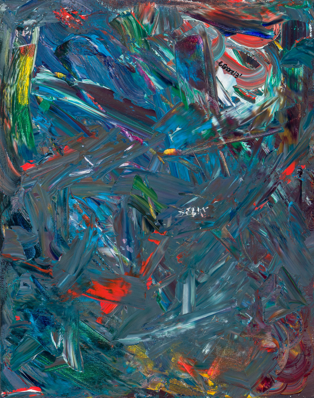 """twisted muck, acrylic paint, 16"""" x 20"""" (2013)"""