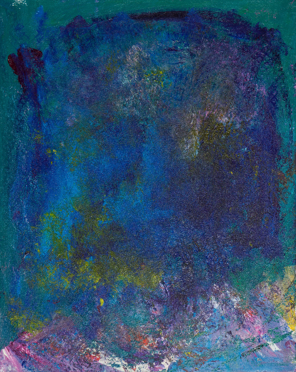 "seafoam, acrylic paint, 16"" x 20"" (2014)"