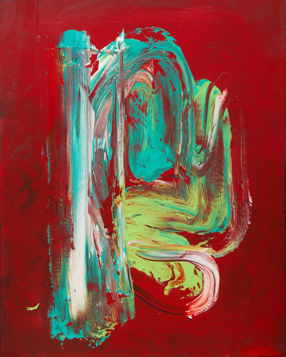 """frog,acrylic paint, 16x20"""" (2018)"""