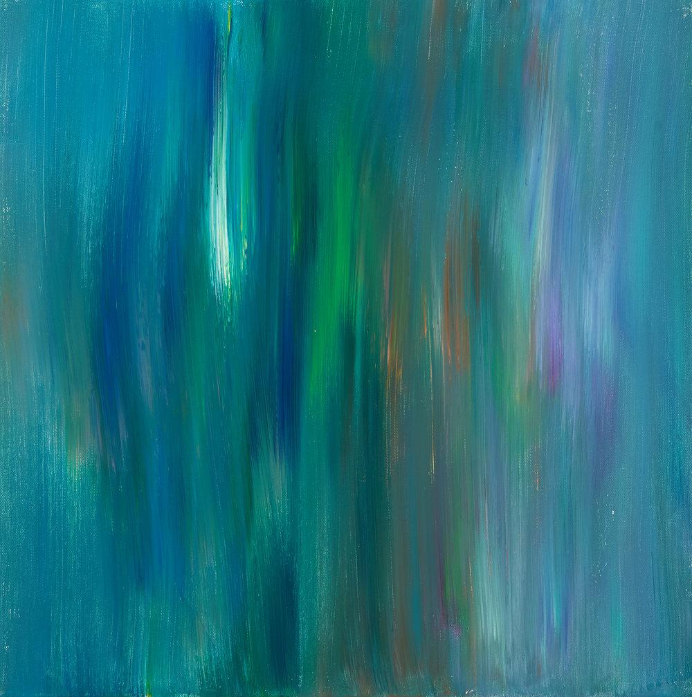 """untitled, acrylic paint, 20x20"""" (2018)"""