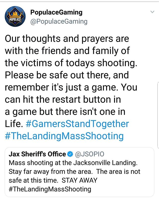 Be safe out there everyone.  #thelandingmassshooting