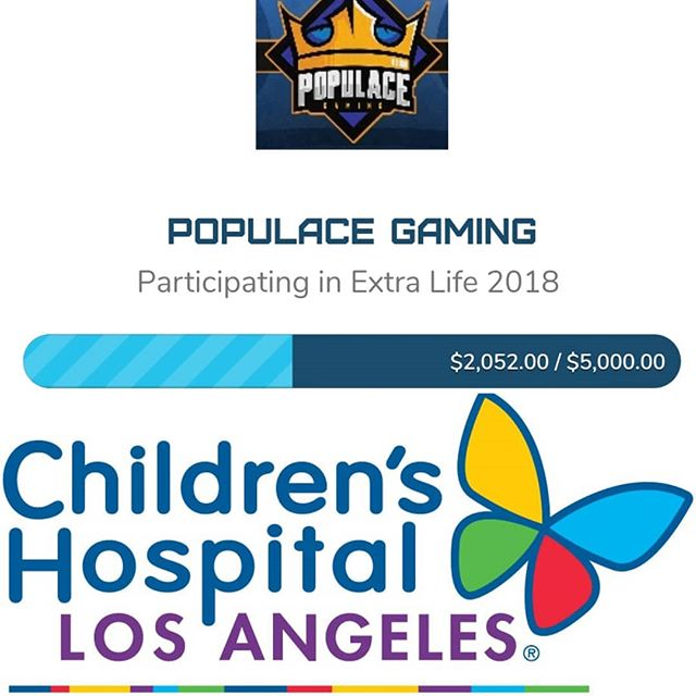 Thank you so much to @thatgrltrish and the entire #DragonRiders Family! Together we have raised over $2000 for @childrensla through @extralife4kids !!! We have a ways to go to meet our $5000 goal so make sure you tune in this weekend starting at 8am to help us reach that goal, hang out, share some laughs, and have a great time!!