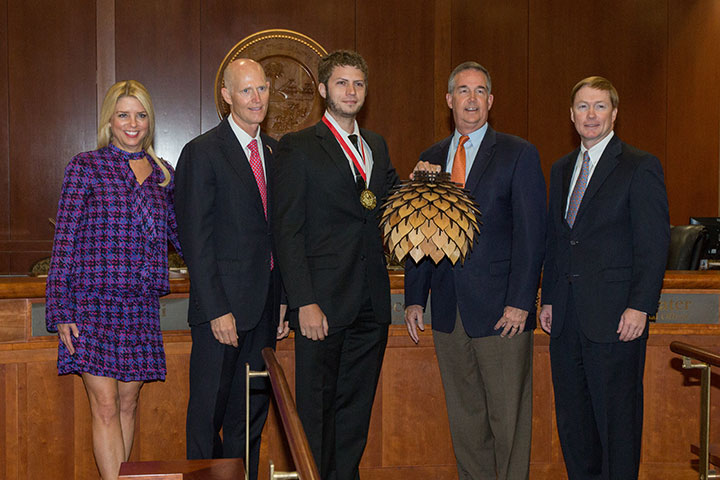 Attorney General Pam Bondi, Gov. Rick Scott, Nick O'Donnell, CFO Jeff Atwater and Agriculture Commissioner Adam Putnam at the Governor's Cabinet meeting Oct. 25, 2016.