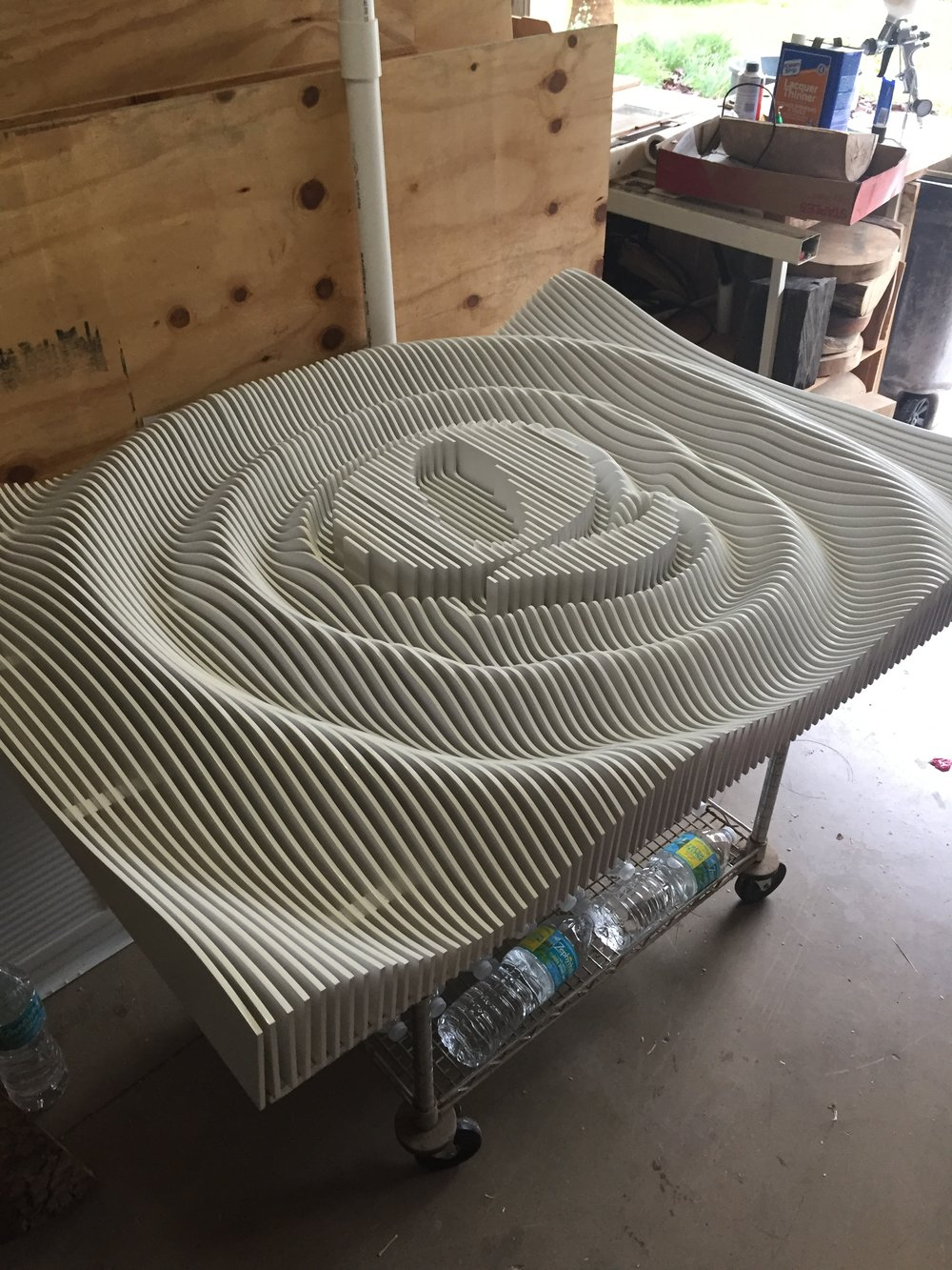 graphic ripple rippling wall panel 2 wooden parametric fixture modern geometric organic abstract terraform teraform laser cut cnc router.JPG