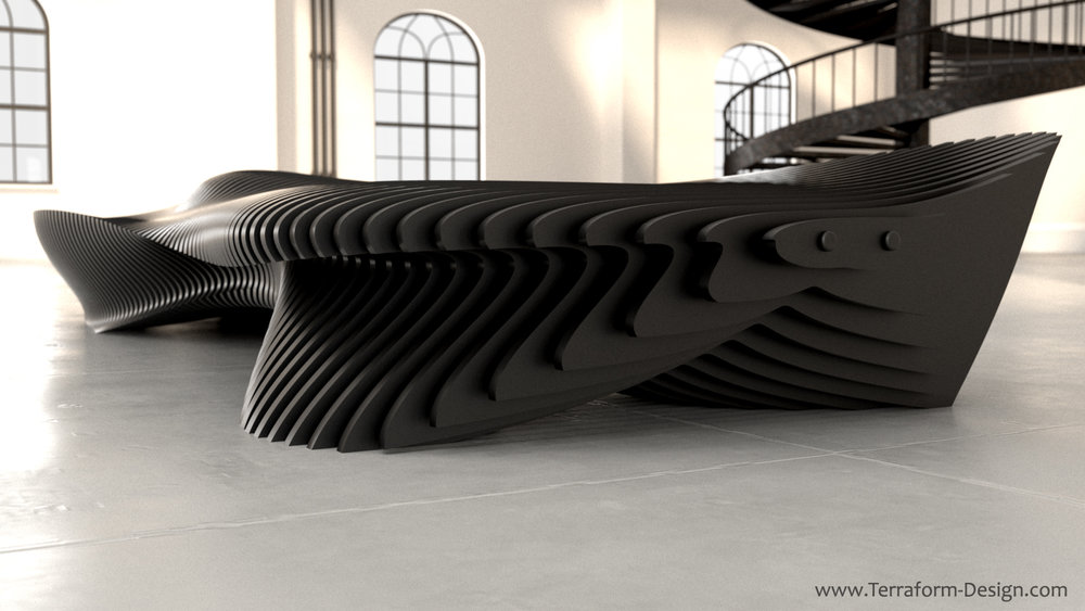 pisces ml_1W handmade parametric furniture cnc router sectioned flowing wooden decorative postmodern organic geometric plywood airport museum public bench terraform design.jpg
