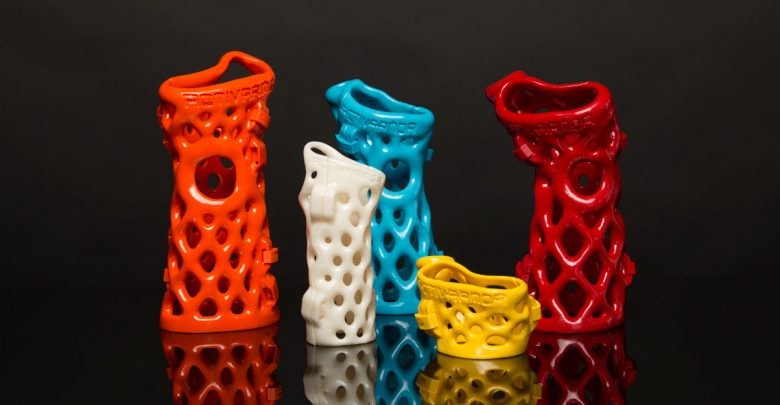Activarmor - a company that makes casts that custom fit each and every patient exclusively and individually - by scanning the patient's arm, and 3D printing a lattice structure to envelope it