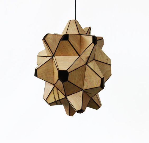 Aragonite Lamp - a lamp inspired by centrally-located starting points of Aragonite crystal growth.