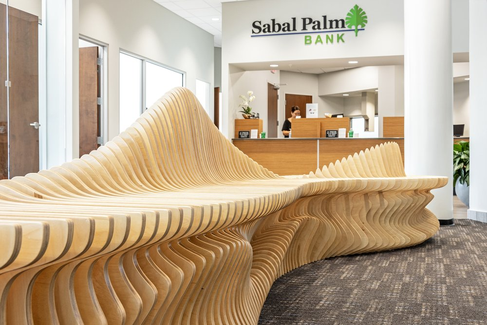 sabal palm bank bench 11 handmade parametric furniture cnc router sectioned flowing wooden decorative postmodern organic geometric plywood airport museum public bench terraform design.jpg