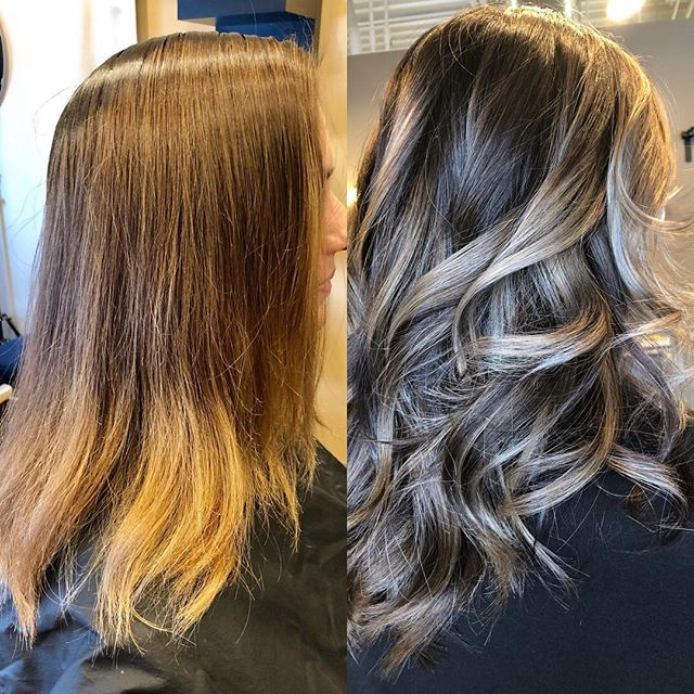Yes the pic on the left is in my chair about 7 feet from the window and the pic on the right is about 3 feet from the window... lighting is everything, but so is some major color change!! There were many steps to this color change and well worth it!🤩🤩🤩