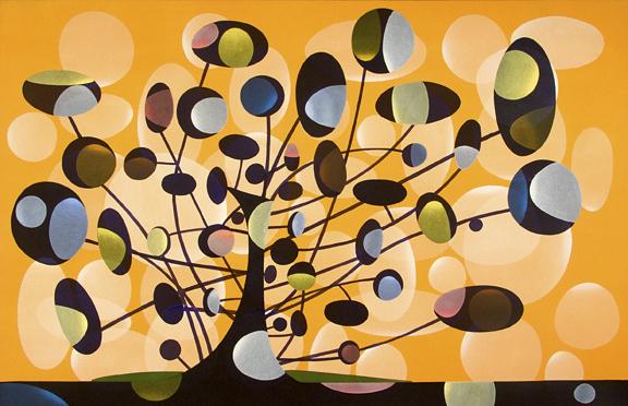 162. Woodlawn Avenue. Acrylic on Canvas, 64 x 43 inches
