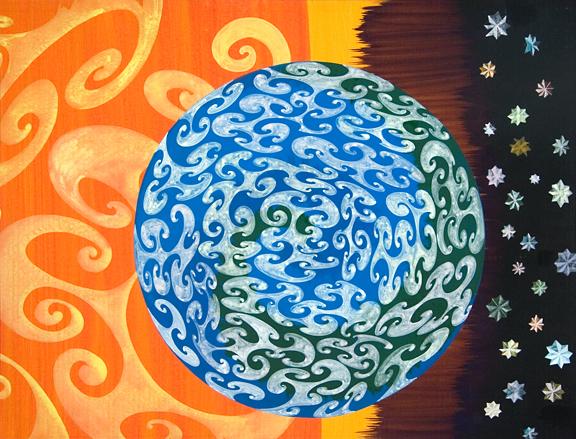 28. Earth and Sun 31 x 41 inches Acrylic on Board