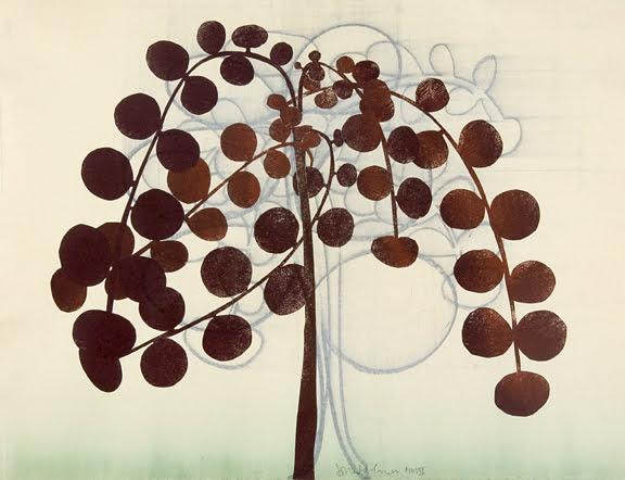 179. Tree Study, Monotype 18 x 24 inches