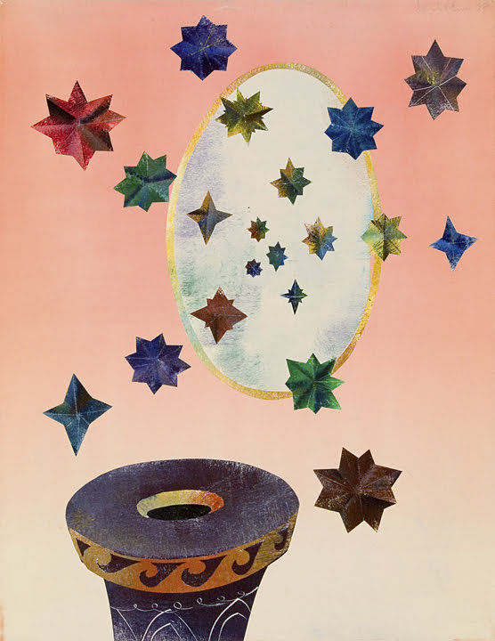 201. Untitled Stars, Monotype, 24 x 19 inches