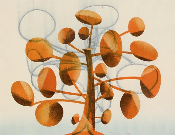182. Tree Study, Monotype 18 x 24 inches