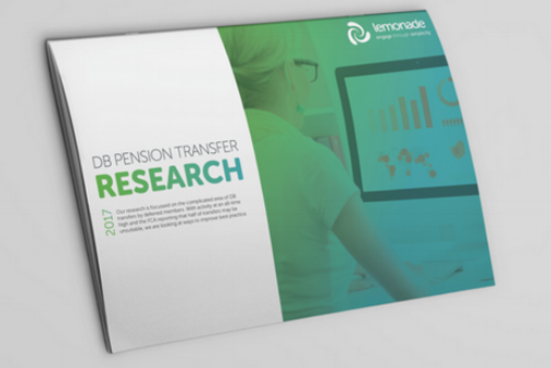 DB RESEARCH  In 2017, we completed some research into the complicated area of DB transfers, the research represents over 1 million members and 10 of the top 100 schemes took part.