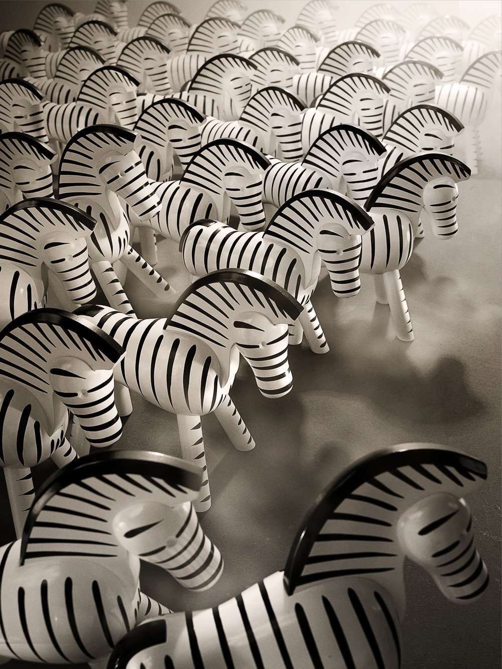 Wooden Zebras. Hagedornhagen's interpretation of the original drawings by Kaj Bojesen a Scandinavian icon.