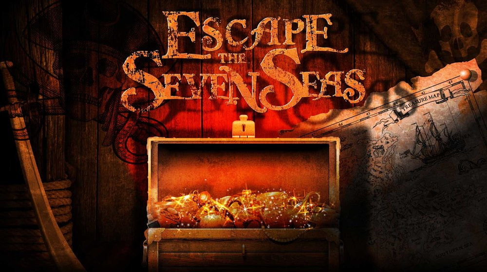 escape the seven seas - You and your crew have been locked away in the brig. Does your team have what it takes to escape your cell, break into the Captains chamber and steal the treasure all for yourself? Glory and riches await