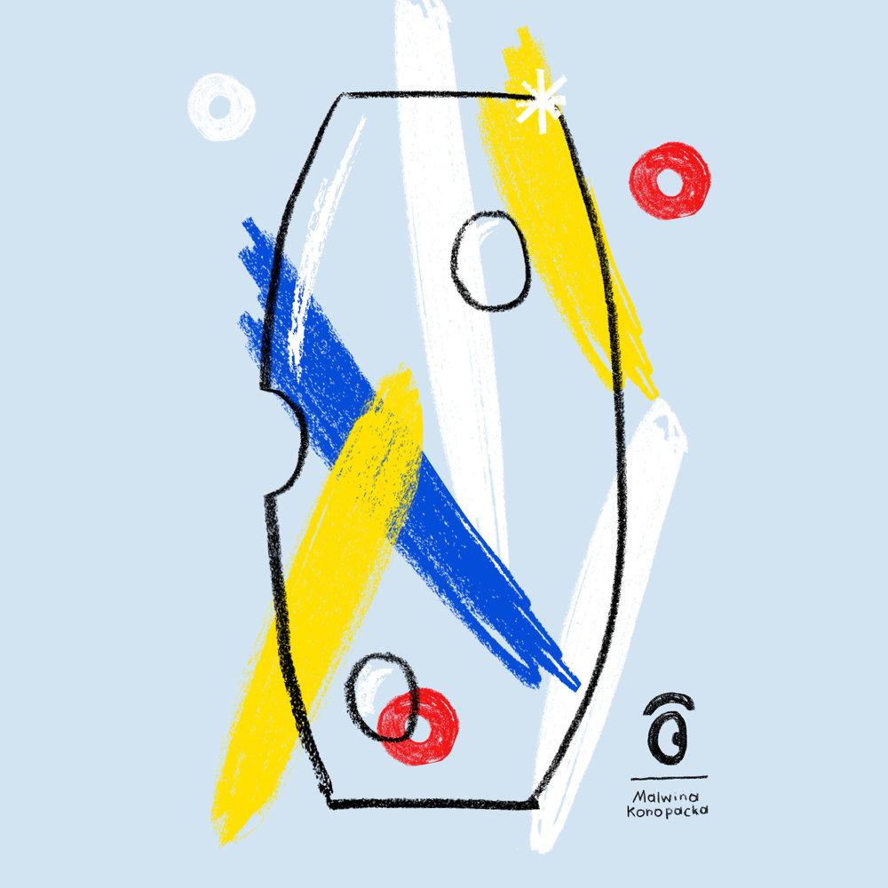 Malwina Konopacka: Oko – kolekce ručně malovaných předmětů - Polská ilustrátorka a designérka Malwina Konopacka představí ve výstavním prostoru kolekci ručně malovaných předmětů Oko, jejichž část vznikla také v českých sklárnách.Výstavu uvádí Kolektiv 318 – francouzská galerie, která se specializuje na středoevropský design. Je výsledkem spolupráce mezi francouzským vydavatelem, polskou umělkyní a tradičním českým výrobcem broušeného skla.—Canapé: Galerie designu25. 10. – 8. 11. 2018, od 10 do 21 hod.vstup zdarma