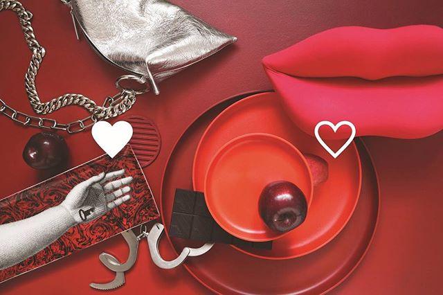 Happy Valentine's Day! ♥️ (Sneak peek into #Soffa31 dedicated to Symbols – coming out soon!) — styling: Janka Murínová | photo: Lina Németh | #soffamag #valentinesday2019 #valentyn #czechphoto #czechphotography #jencervenatomuzebyt #designstyling #designdecor #fornasetti #vitra #ether #lovelovelove #modernsymbols #symbols #designphoto #designphotography