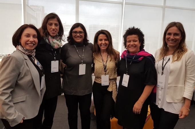 Maria Alice Doria (Motta Fernandes), Luana Pace (Mudita), Sylvia Bellio (TLine), Luciane Dalmolin (Dell), Ana Fontes (Rede Mulher Empreendedora), Regina Acher (Laboratoria)