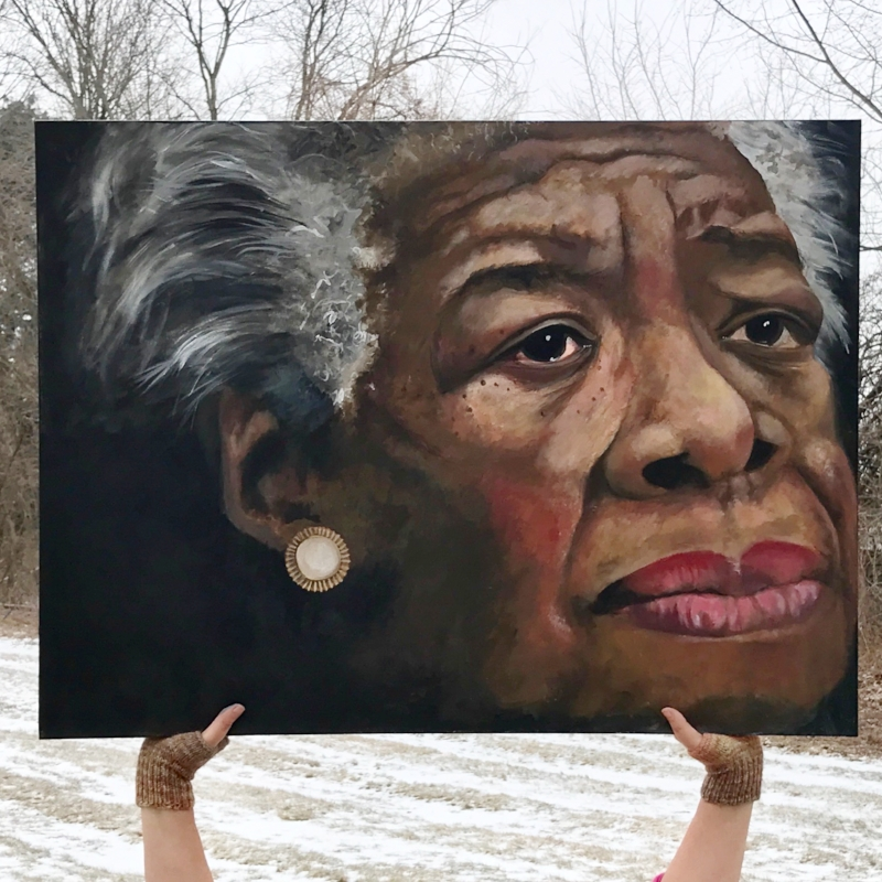 Maya Angelou - 24 X 36 inches$1,400.00 available