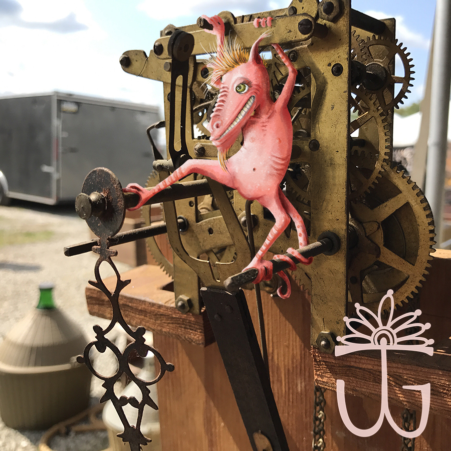 And the gremlin snuck into the clockworks, unscrewed the screws, unseated the gears, and ate the tiny springs to satisfy her desire for disorder. Gleefully giggling in her pink tin voice.