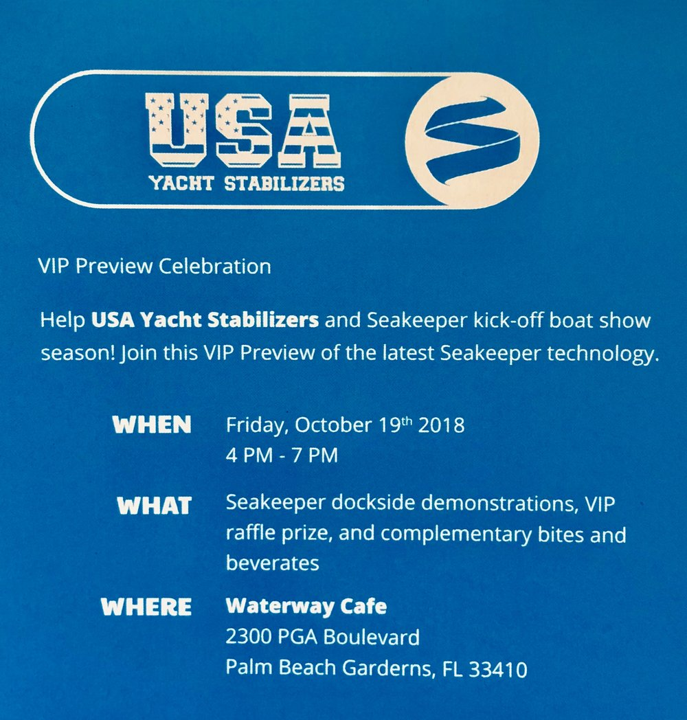 you are Invited! - RSVP by email or text:sales@usastabilizers.com(321)289-7606