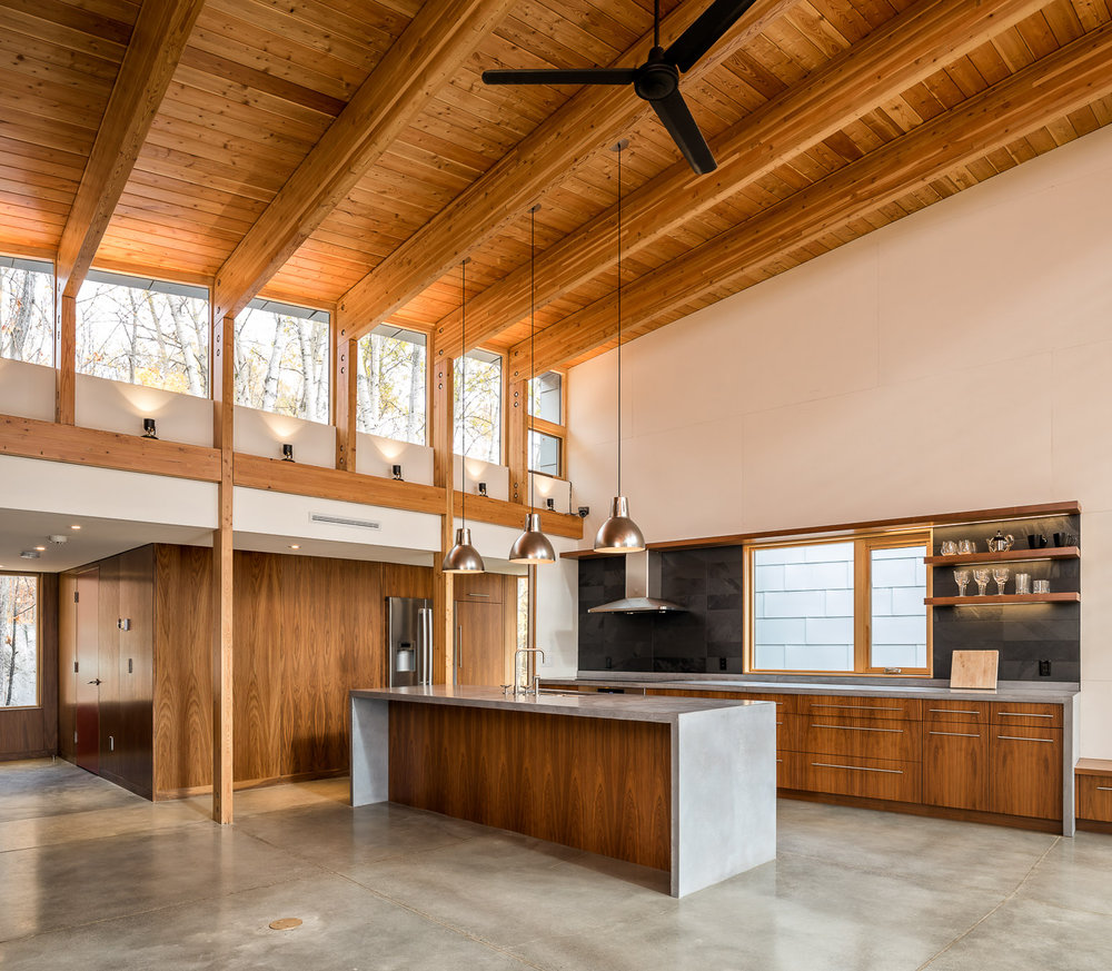 Oblong Lake Interior Kitchen 1