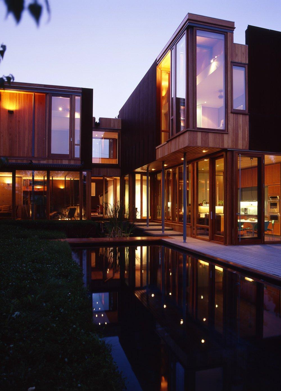 Weathering Steel House Backyard Reflection Pool