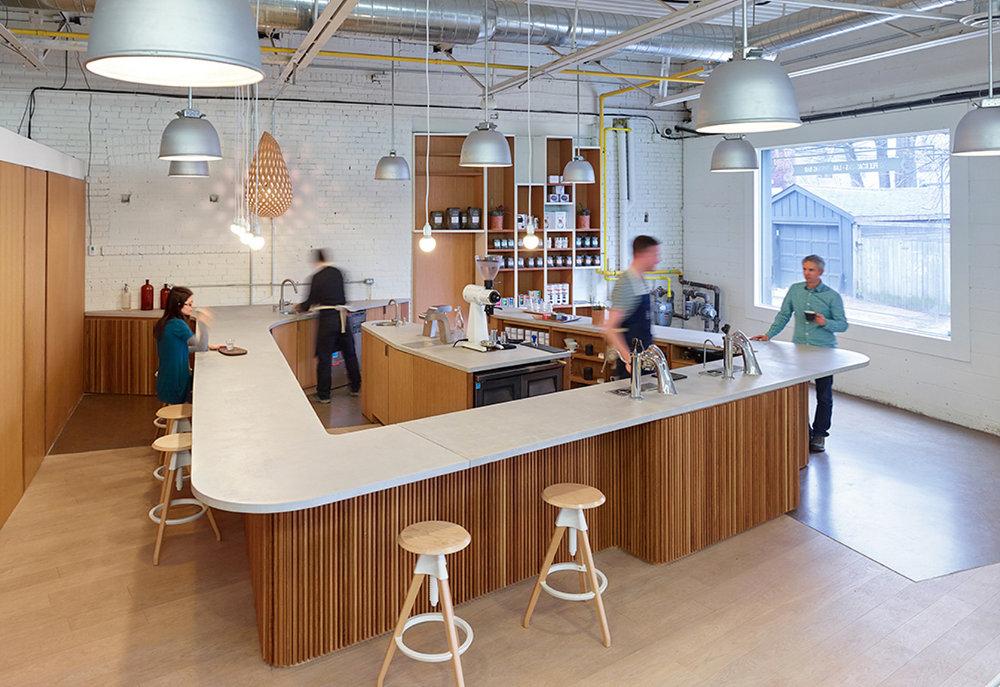 Pilot Coffee Interior Bar