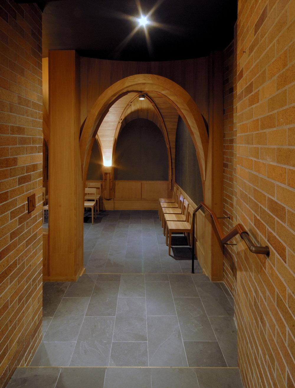 Massey College Chapel Interior Hallway