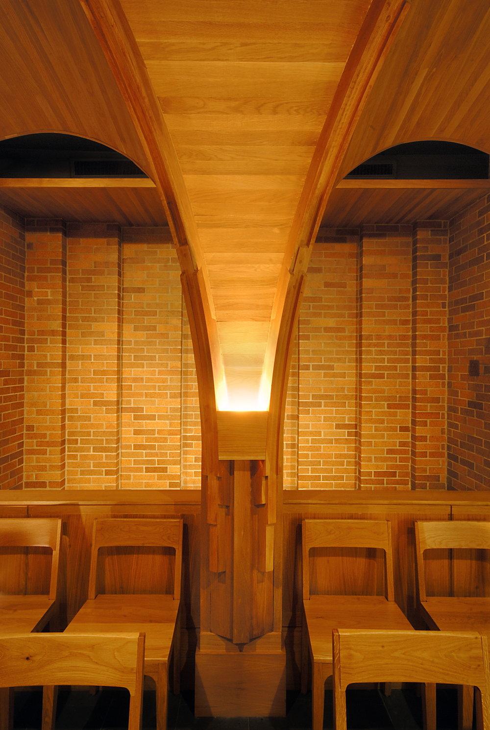 Massey College Chapel Interior Arch Detail Shot