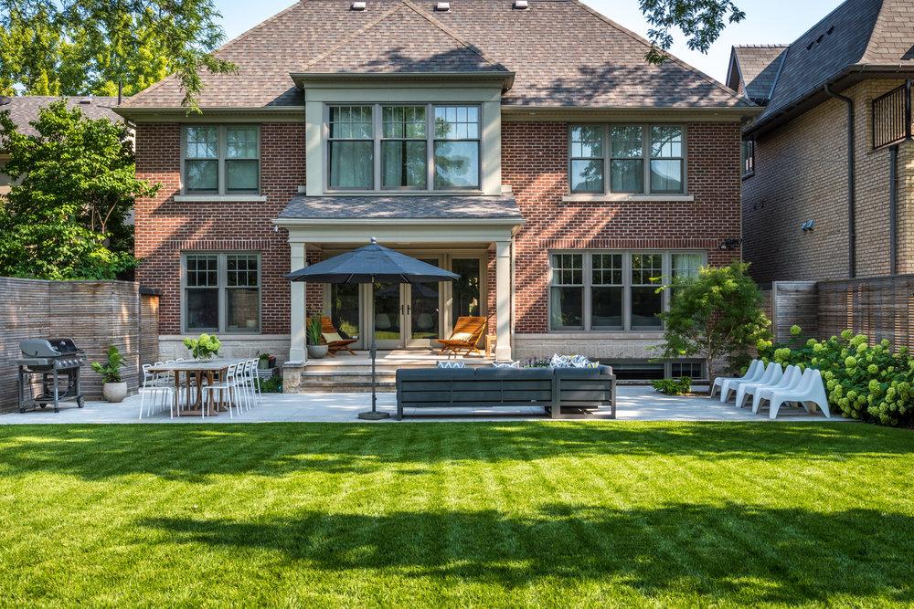 Cricket Club House Backyard Lawn