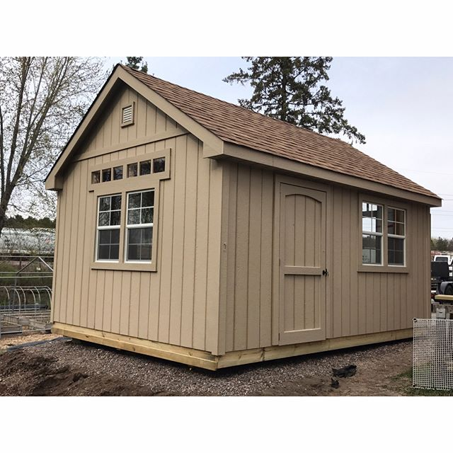 Got windows? This 12x16 Gable Deluxe will provide plenty of light inside for its owners. #customsheds #wisconsin #minnesota