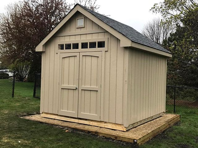 The weather wasn't ideal, but our crew hammered out this 10x10 Gable Deluxe today! 🌨🌧 #customsheds #minnesota #wisconsin
