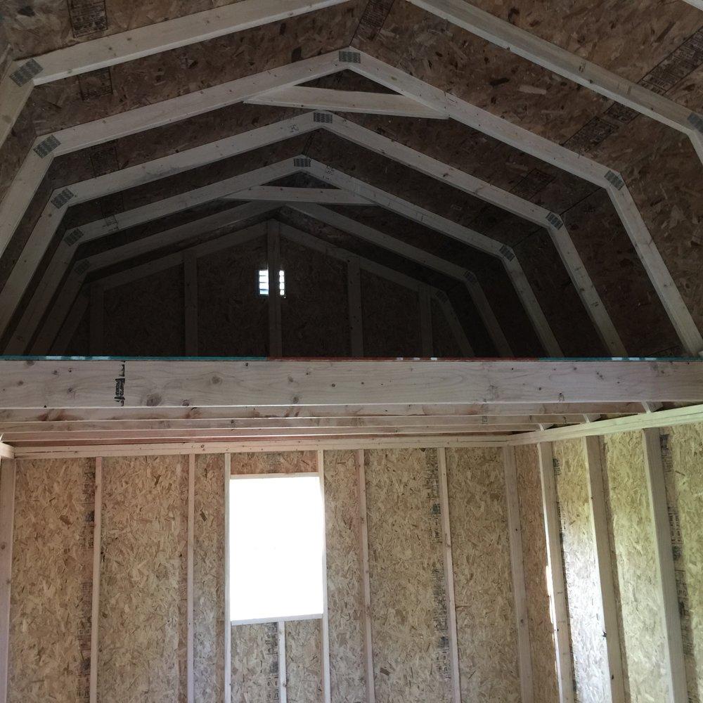 Interior Loft 12' Wide Classic Barn