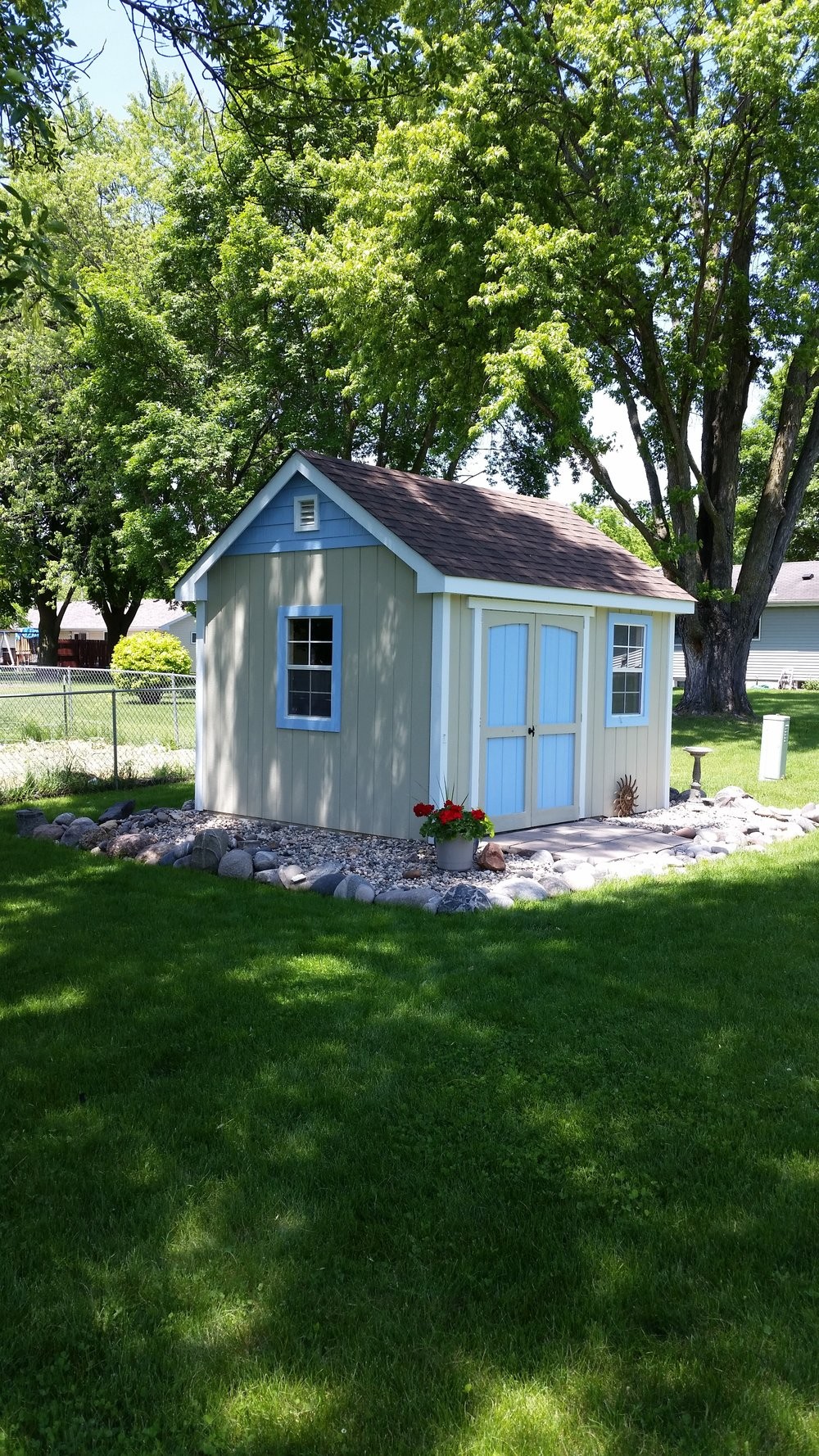 10x12 Gable Deluxe Painted Landscaped Blue 2.JPG