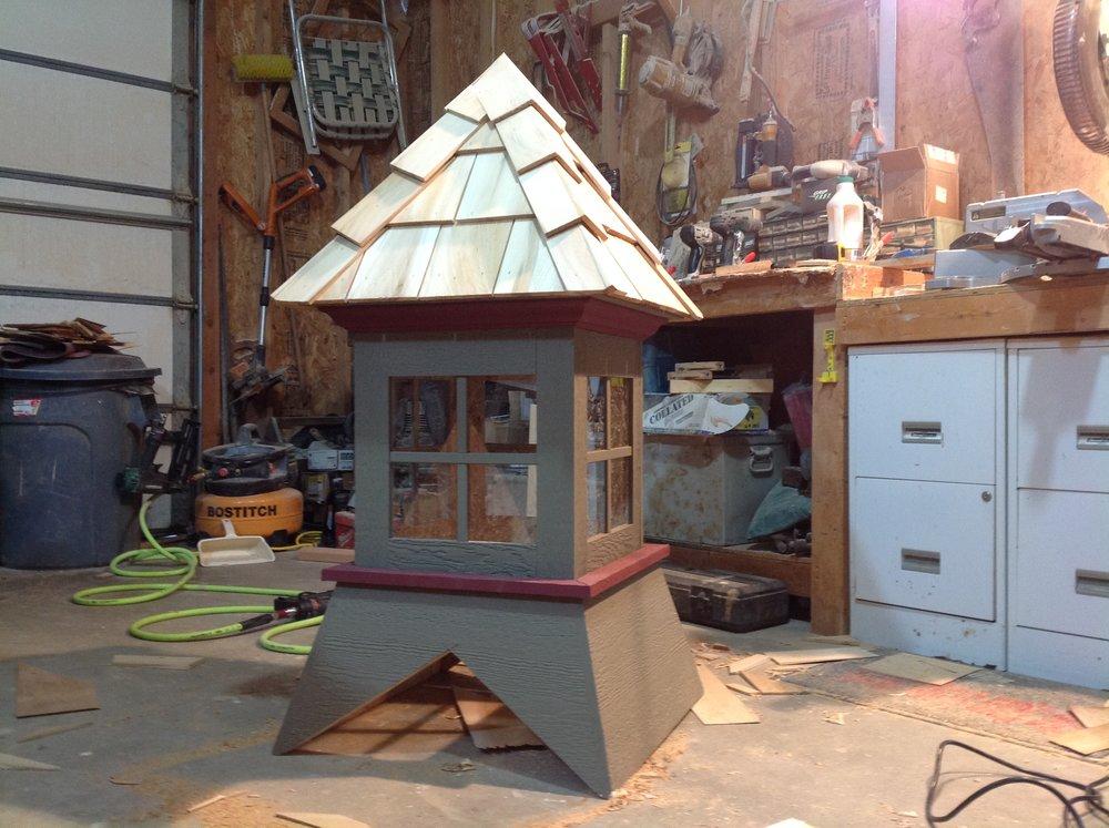 Hand Crafted Cupola - Cedar Shake roofed w/ Windows