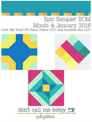 Epic Sampler BOM Club Month 4: January — Elizabeth Dackson