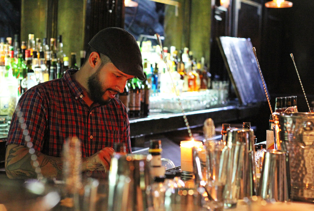 Julian Burgos keeps everyone (The Mr.) in line and is helpful if our drink begins to go awry.