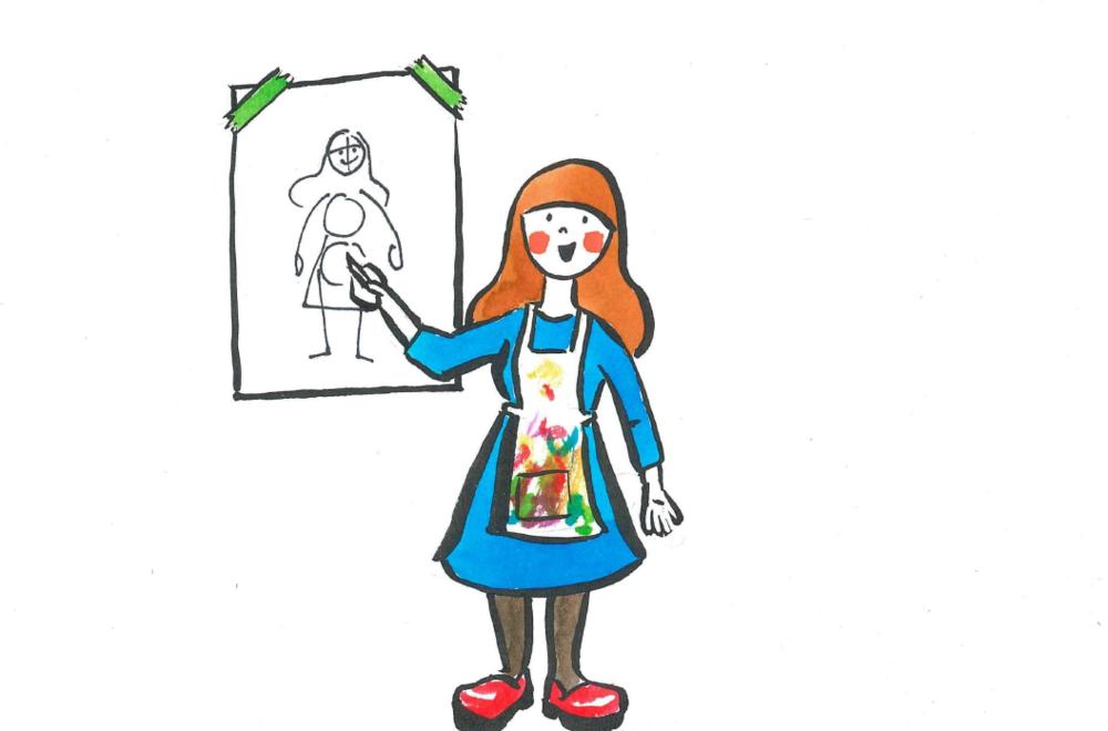 about art teacher in process
