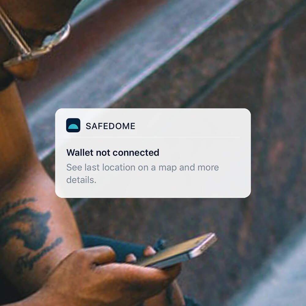 Seperation alerts - The Safedome app remembers when and where you last had your missing item.