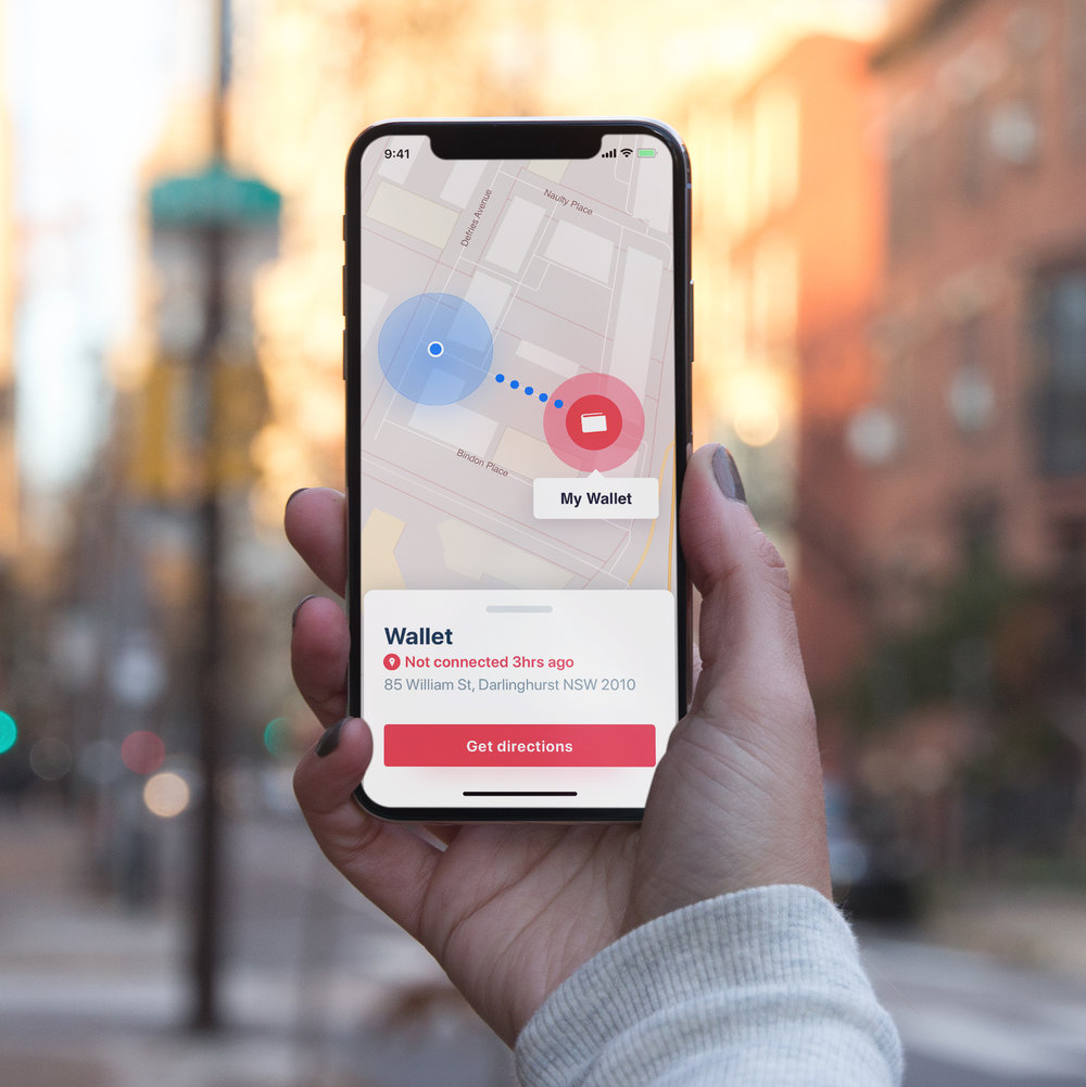 Easy to find - Connected to the free app, it's easy to keep track of your belongings.