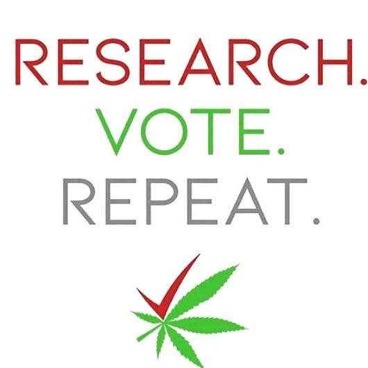 Every voice matters, Happy Voting Folks! Viva La Plant! . . #cannabis #vote #research #oregon #marijuana #growers #budtenders