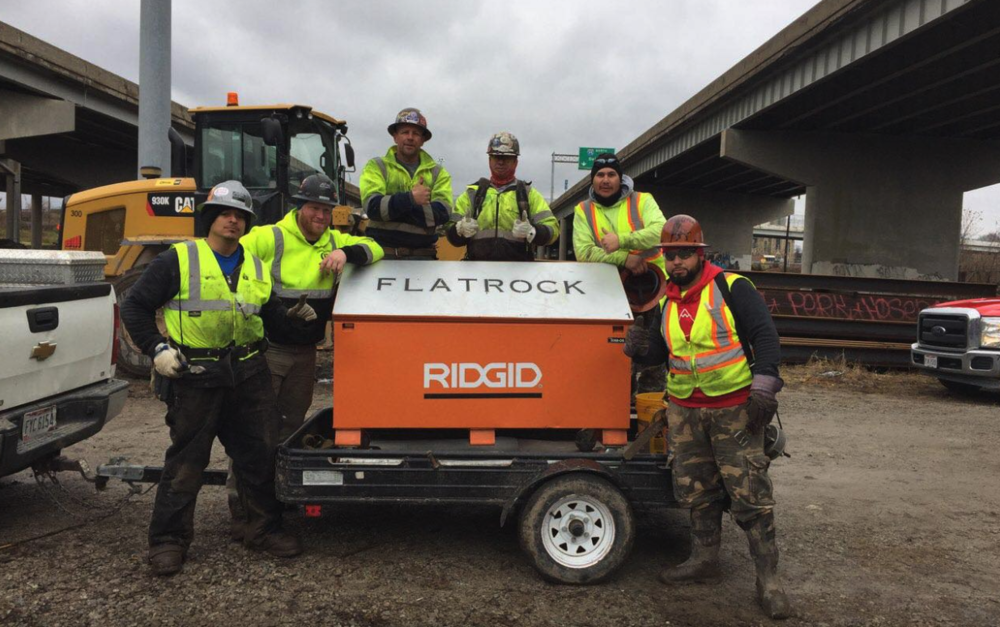 A Few of Our Team Members at the I-75 Bridge Reconstruction Project in Downtown Toledo